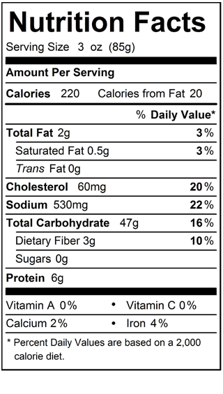 Pasta_Gluten_Free_Fs_Linguini_Nutrition_Label