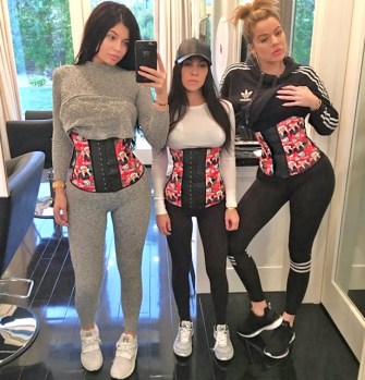 khloe-kourtney-kardashian-waist-training