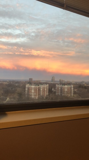 Sunrise from my hospital bed...